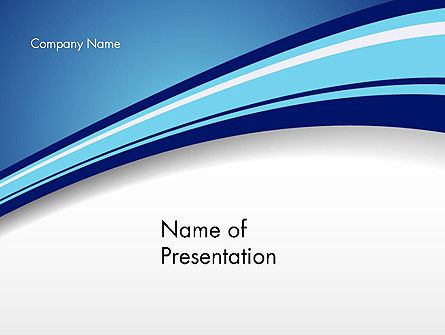 Curved Highway Abstract PowerPoint Template