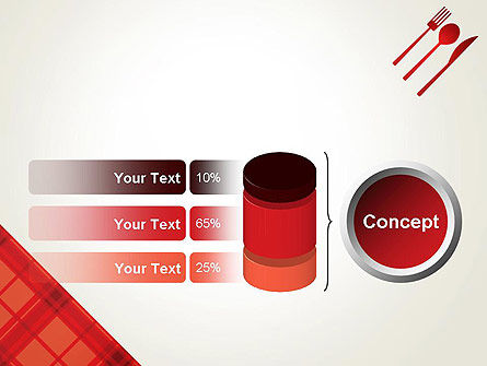 Tablecloth Decoration Illustration PowerPoint Template Slide 11