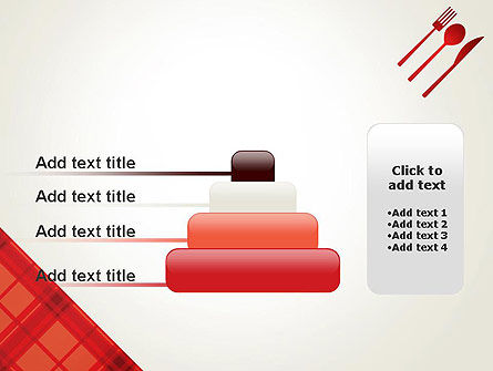 Tablecloth Decoration Illustration PowerPoint Template Slide 8