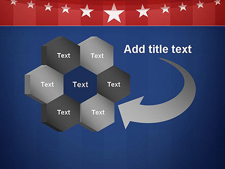American Flag Stylized Background PowerPoint Template Slide 11