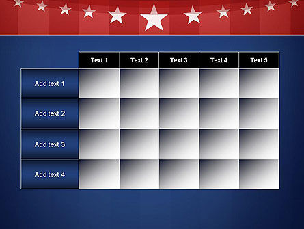 American Flag Stylized Background PowerPoint Template Slide 15