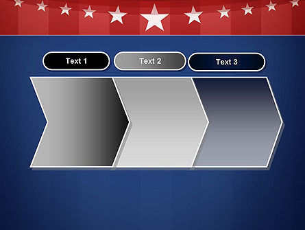 American Flag Stylized Background PowerPoint Template Slide 16