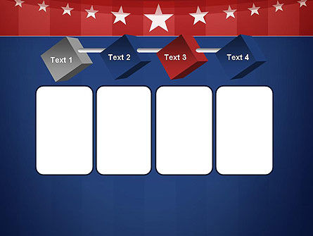 American Flag Stylized Background PowerPoint Template Slide 18