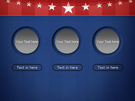 American Flag Stylized Background PowerPoint Template Slide 5