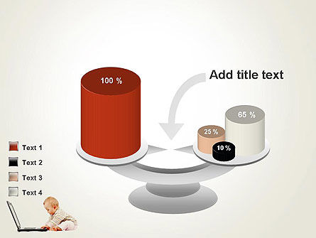 Small Baby with Laptop PowerPoint Template Slide 10