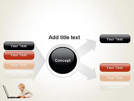 Small Baby with Laptop PowerPoint Template Slide 14
