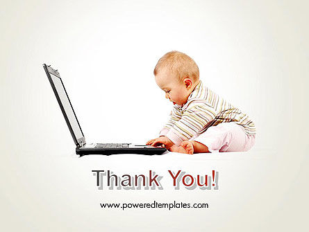 Small Baby with Laptop PowerPoint Template Slide 20