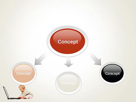 Small Baby with Laptop PowerPoint Template Slide 4
