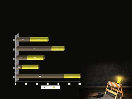 Street Under Construction PowerPoint Template Slide 11