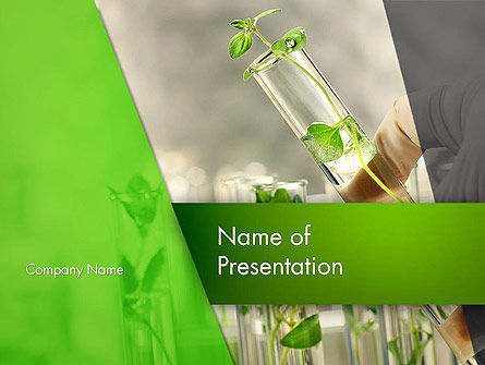 Genetically Modified Plants PowerPoint Template