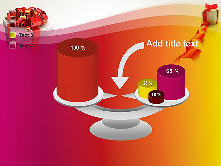 Gift Boxes with Red Bows PowerPoint Template Slide 10