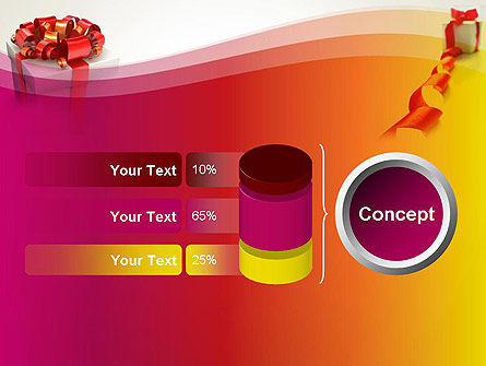 Gift Boxes with Red Bows PowerPoint Template Slide 11