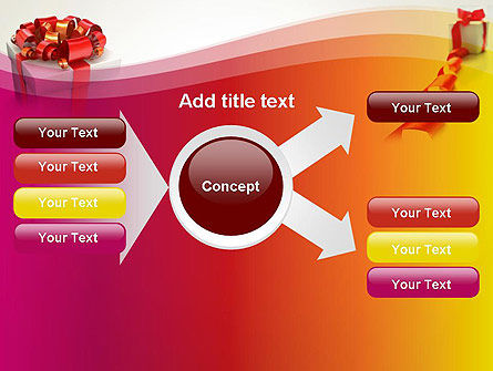 Gift Boxes with Red Bows PowerPoint Template Slide 14