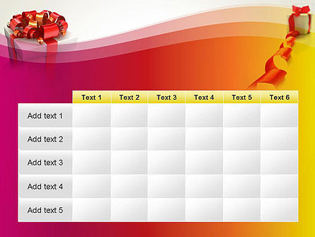 Gift Boxes with Red Bows PowerPoint Template Slide 15