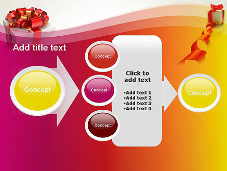 Gift Boxes with Red Bows PowerPoint Template Slide 17