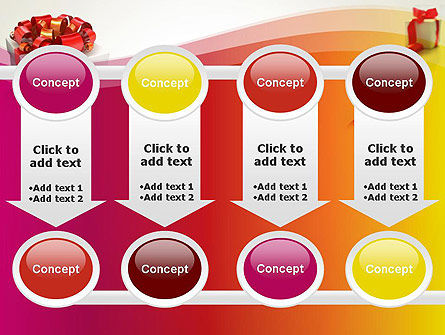 Gift Boxes with Red Bows PowerPoint Template Slide 18