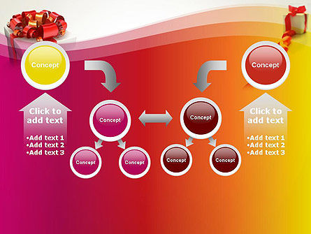 Gift Boxes with Red Bows PowerPoint Template Slide 19