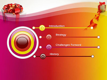 Gift Boxes with Red Bows PowerPoint Template Slide 3