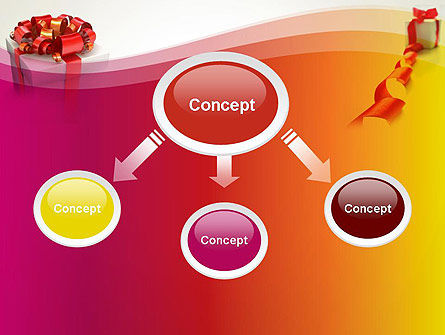 Gift Boxes with Red Bows PowerPoint Template Slide 4