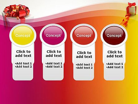 Gift Boxes with Red Bows PowerPoint Template Slide 5