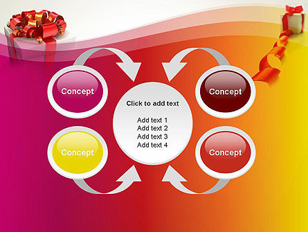 Gift Boxes with Red Bows PowerPoint Template Slide 6