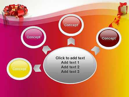 Gift Boxes with Red Bows PowerPoint Template Slide 7