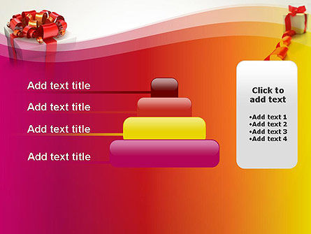 Gift Boxes with Red Bows PowerPoint Template Slide 8