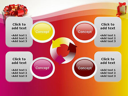 Gift Boxes with Red Bows PowerPoint Template Slide 9