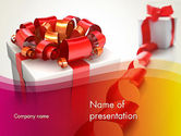 Holiday/Special Occasion: Gift Boxes with Red Bows PowerPoint Template #13284
