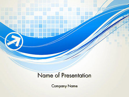 Tech Wave Abstract PowerPoint Template, 13285, Abstract/Textures — PoweredTemplate.com