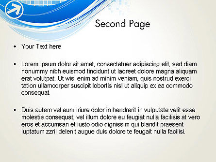 Tech Wave Abstract PowerPoint Template Slide 2