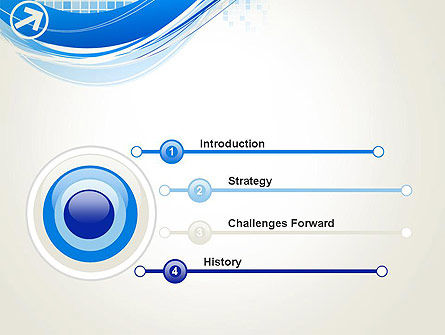 Tech Wave Abstract PowerPoint Template, Slide 3, 13285, Abstract/Textures — PoweredTemplate.com