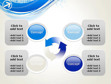 Tech Wave Abstract PowerPoint Template Slide 9