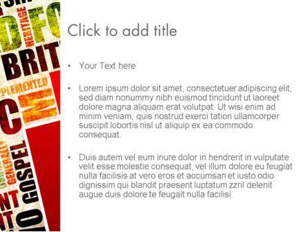 Music Word Cloud PowerPoint Template, Slide 3, 13286, Art & Entertainment — PoweredTemplate.com