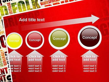 Music Word Cloud PowerPoint Template Slide 13