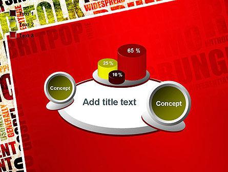 Music Word Cloud PowerPoint Template Slide 16