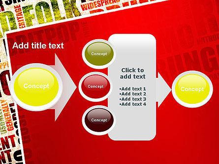 Music Word Cloud PowerPoint Template Slide 17