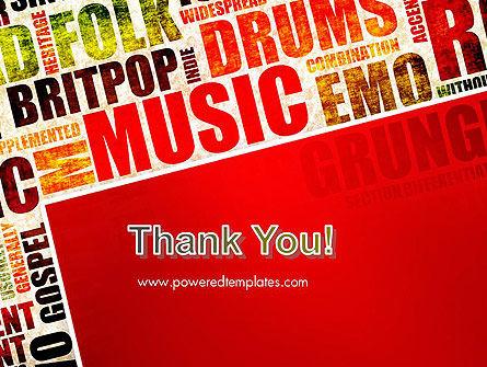 Music Word Cloud PowerPoint Template Slide 20