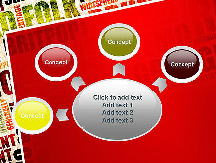 Music Word Cloud PowerPoint Template Slide 7