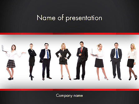 Recruit PowerPoint Template, 13287, People — PoweredTemplate.com