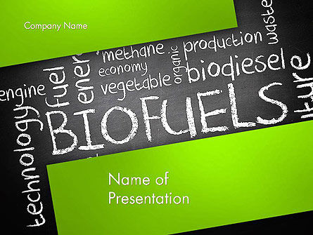 Nature & Environment: Bio Fuels Word Cloud PowerPoint Template #13289