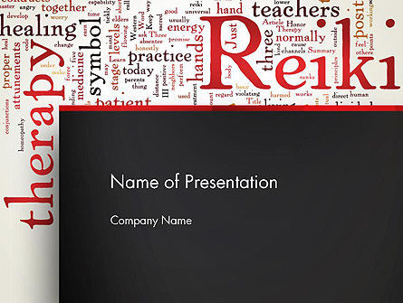 Reiki Therapy Word Cloud PowerPoint Template, 13290, Health and Recreation — PoweredTemplate.com