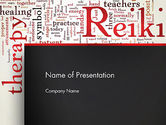 Health and Recreation: Reiki Therapy Word Cloud PowerPoint Template #13290