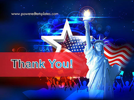 Statue Of Liberty With Fireworks PowerPoint Template Slide 20