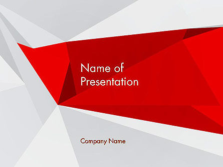Abstract Folded Paper PowerPoint Template, 13292, Abstract/Textures — PoweredTemplate.com
