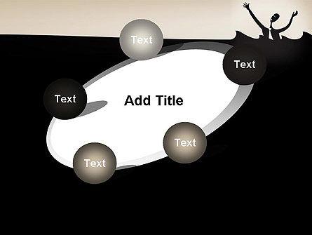 Drowning Businessman Cartoon PowerPoint Template Slide 14