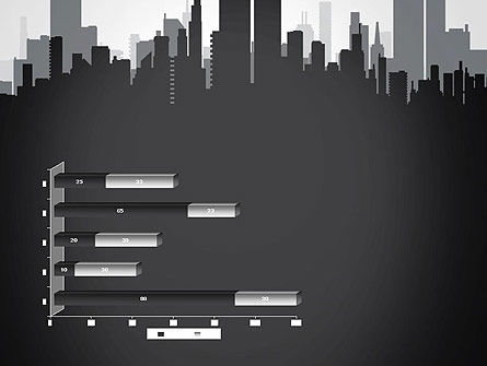 Black and White City Silhouette PowerPoint Template Slide 11