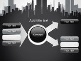 Black and White City Silhouette PowerPoint Template#15