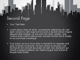 Black and White City Silhouette PowerPoint Template#2