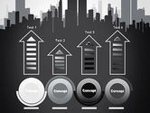 Black and White City Silhouette PowerPoint Template#7